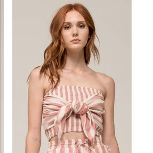 Moon River Two Piece Set Striped Top and Shorts